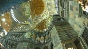 Techo en Hagia Sophia Istanbul metrajes