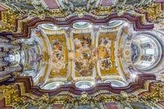 Techo en la abadía de Melk Imagen de archivo libre de regalías