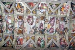 Techo en la capilla de Sistine fotografía de archivo libre de regalías