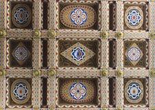 Techo en la entrada del castillo de Sammezzano Fotos de archivo libres de regalías