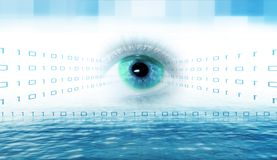 Techo eye Royalty Free Stock Photo