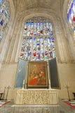 Techo g?tico Reyes College Chapel masterpiece foto de archivo libre de regalías
