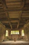 Techo medieval, abadía de Haughmond, Foto de archivo