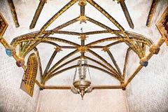 Techo mudéjar adornado del La Casa de Pilatos, Sevilla, Spai Fotografía de archivo libre de regalías