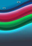 Techo único usando el color que cambia la iluminación del LED Imagenes de archivo