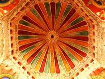 Techo ornamental en el pasillo dharbar del pasillo del ministerio del palacio del maratha del thanjavur Imagen de archivo