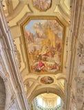 Techo pintado de la iglesia Fotos de archivo