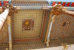 Techo pintado de la mezquita en la fortaleza de la arca Foto de archivo libre de regalías