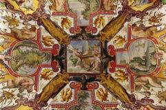 Techo pintado en Vaticano Foto de archivo