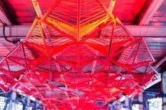 Techo rojo futurista Foto de archivo libre de regalías