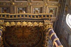Techo Roma, Italia de Santa Maria Maggiore de los di de la basílica foto de archivo