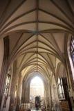 Techo saltado de la abadía de Crowland, Lincolnshire, Reino Unido - 27 de abril Fotos de archivo libres de regalías