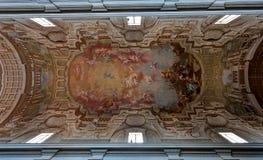 Techo Santa Maria del Carmine Florence, Firenze, Toscany, Italia imagenes de archivo