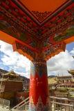 Techo tibetano del templo Fotografía de archivo libre de regalías