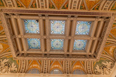 Techo Washington de la biblioteca del congreso Fotografía de archivo libre de regalías