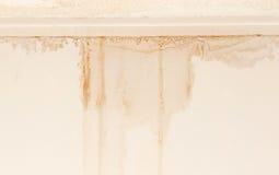 Techo y pared dañados agua imagen de archivo
