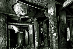 Techological chamber in cement factory Stock Photography