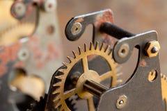 Techology винтажной шестерни колеса cog механически Поле малой глубины, селективный фокус Стоковая Фотография RF
