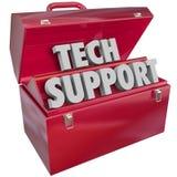 Techservice uttrycker hjälp för informationsteknik om Toolboxdator Royaltyfri Fotografi
