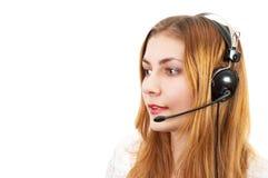Techsupport Mädchen am Telefon Stockfotografie