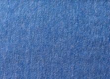 Tecido de algodão azul Imagens de Stock