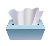 Tecido de papel na caixa de cartão Fotos de Stock Royalty Free