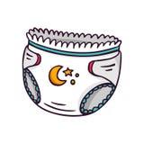 Tecido do bebê, ilustração brilhante das crianças do vetor no whi Fotos de Stock Royalty Free