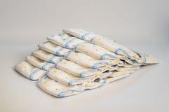 Tecidos descartáveis, isolados no fundo branco Imagens de Stock Royalty Free