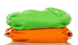 Tecidos eco-amigáveis modernos isolados no branco Imagem de Stock