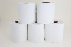 Tecidos no fundo branco Imagens de Stock