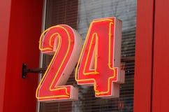 24 tecken Royaltyfri Bild