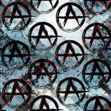 Tecken av anarki Fotografering för Bildbyråer