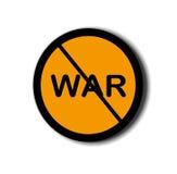 Tecken av anti--kriget med vit bakgrund royaltyfri fotografi
