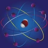 Tecken av atomen. Royaltyfri Bild