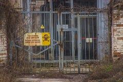 Tecken av den farliga zonen Royaltyfria Bilder