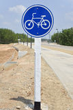 Tecken av en cykel Royaltyfri Fotografi