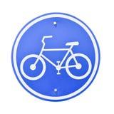 Tecken av en cykel Royaltyfri Bild