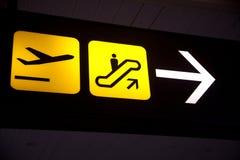 Tecken av flygplatsen Arkivfoto