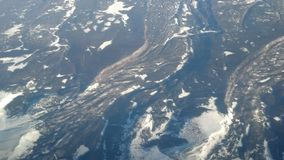 Tecken av geologisk aktivitet för stor skala Arkivfoton