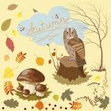 Tecken av hösten Royaltyfri Illustrationer
