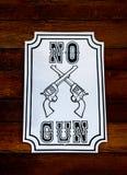 Tecken av inget låtet vapen Arkivfoto