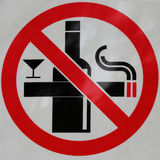 Tecken av inget - röka och ingen drink Royaltyfria Bilder
