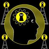Tecken av paranoid schizofreni royaltyfri illustrationer