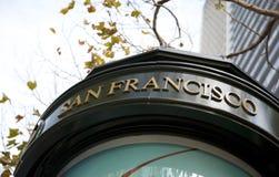 Tecken av San Francisco Arkivfoton