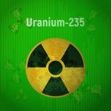 Tecken av utstrålning Uran 235 vektor illustrationer