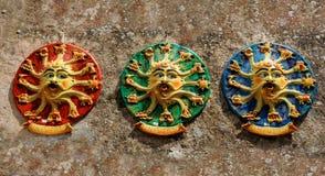 Tecken av zodiaken, sicilian keramik arkivfoto