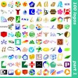 tecken för 1 logo royaltyfri illustrationer