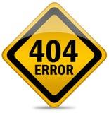 tecken för 404 fel Royaltyfri Bild
