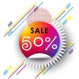 Tecken för abstrakt begrepp för lopp för Sale banerfestival Royaltyfri Fotografi