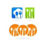 Tecken för affär för rengöringsduk för logo för framstickandeIcon kök Fotografering för Bildbyråer